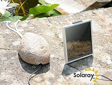 Primrose Aérateur solaire d'étang avec pierre de camouflage