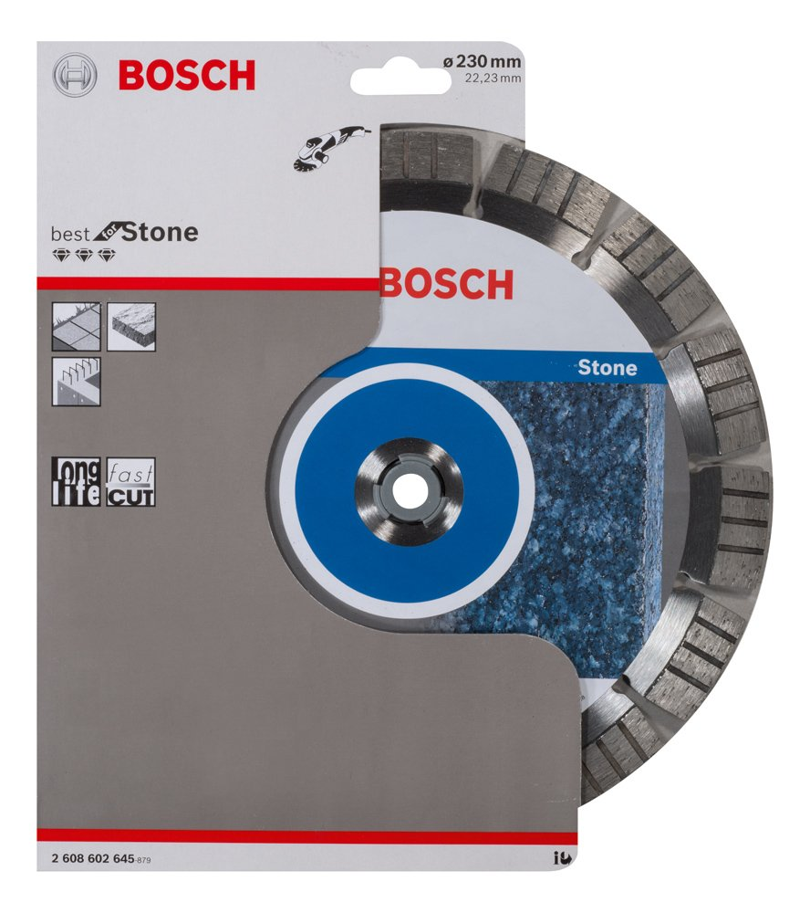 Bosch 2 608 602 645 – Disco de corte de diamante Best for Stone – 230 x 22,23 x 2,4 x 15 mm (pack de 1)