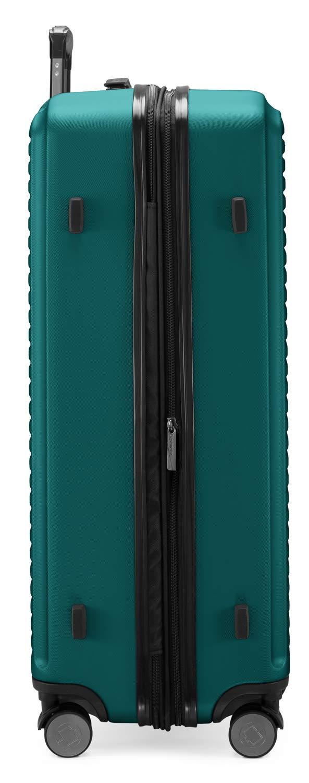 HAUPTSTADTKOFFER-Mitte-2er-Kofferset-Trolley-Set-Zwei-Koffergurte-Rollkoffer-mit-Dehnfalte-65cm-ABS-TSA-Trkis