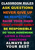 CLASSROOM RULES.... Classroom/Life Inspirational Motivational Quote Sign Poster Print Picture. To Motivate and inspire