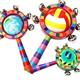 Campanilla de mano legno Music bambini Learning giocattolo Toy Jingle Bell 20* 9cm colore casuale