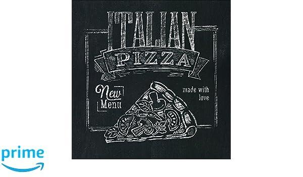 Arte su Vetro Italian Pizza 30/x 30/cm PRO-Art gla1013/a murale