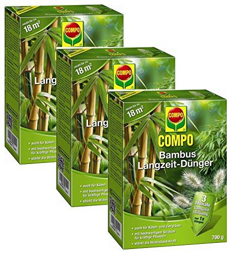 Oleanderhof® Sparset: 3 x COMPO Bambus Langzeit Dünger, 700 g + gratis Oleanderhof Flyer