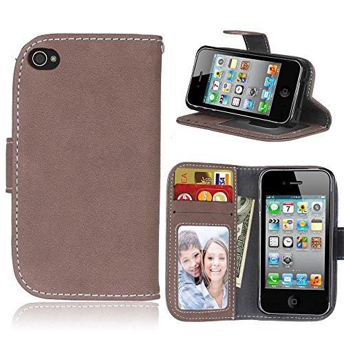 iPhone 4 / 4s Hülle, Cozy hut TPU Silikon Hybrid Handy Hülle Matte Series Case Durchsichtig Stoßfest Tasche Schutz Scratch-Resistant de protection Case Tasche Etui Shell für iPhone 4 / 4s Schutzhülle  Brown Matte
