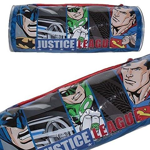 DC 5585010pvc Justice League Batman/Superman/Flash/Green Lantern Federmäppchen, rund,