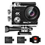 Dragon Touch 4K WiFi Action Camera 16MP Vision3 Underwater Waterproof Camera 170° Wide Angle Sports Camera 4X Zoom with...