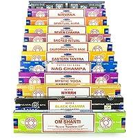 Satya Nag Champa Om Shanti räucherset W 12x15g: Nag Champa, Super Hit, Om Shanti, Black Champa, Eastern Tantra... preisvergleich bei billige-tabletten.eu