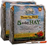 1.5kg Nature's Own Timothy Rich 5 a Day Hay Foraging Feed for Rabbits, Guinea Pigs, Chinchillas & Other Small Pets Animal Food & Tigerbox Antibacterial Pen