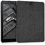 kwmobile Hardcase Custodia in Tessuto per Samsung Galaxy Tab S3 9.7 T820 / T825 - Custodia Case in Design Tessuto Grigio Scuro