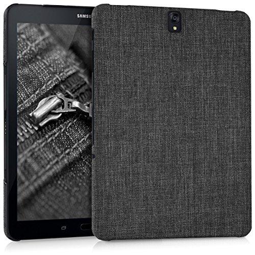 kwmobile Hardcase Stoff Hülle für Samsung Galaxy Tab S3 9.7 T820/T825 - Cover Case in Stoff Design Dunkelgrau