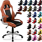 RACEMASTER® 'GT Series' - Silla de escritorio/Gaming silla de despacho - Mecanismo de inclinación y elevación Homolación SGS - Disponible en 20 colores silla de oficina negro/gris/blanco