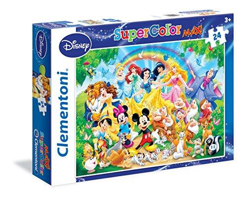 Clementoni 24473 - Puzzle Disney Family, 24 Maxi Pezzi, Multicolore