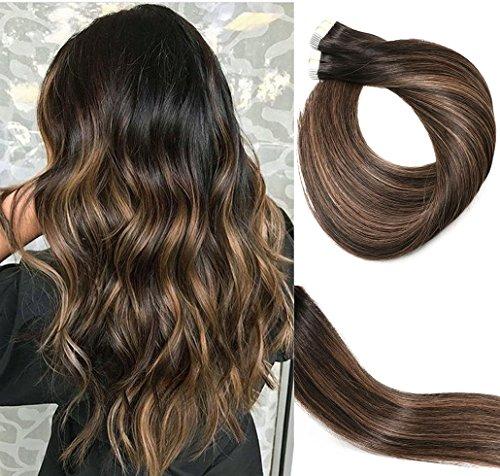 Extension per capelli Remy 50 g 356 – 56 senza cuciture colla capelli dritti nel nastro per extensions.