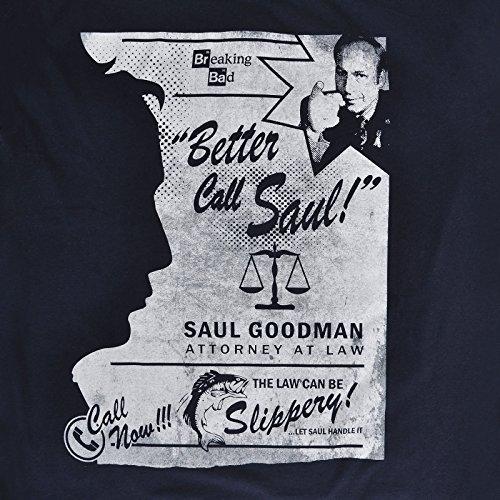 Breaking Bad 'Better Call Saul', Offizielle Erwachsenen T-Shirt Schwarz