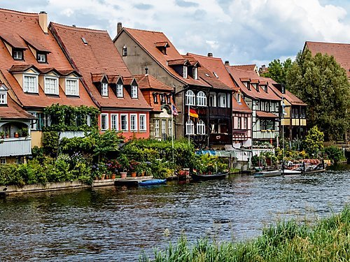 Klein-Venedig in Bamberg 1000 Teile Puzzle quer
