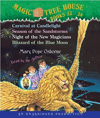 Magic Tree House: Books 33-36: #33 Carnival at Candlelight; #34 Season of the Sandstorms; #35 Night of the New Magicians; #36 Blizzard of the Blue Mo (Magic Tree House