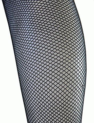 (Tights) Collants en Grandes Tailles en Filets Sexy Tailles Standards XL XXL Sup à 152cm de hanches Noir