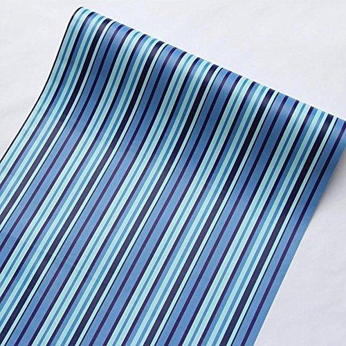 lovefaye Mediterrane blau Streifen Regalen abnehmbarer Dresser Schublade Aufkleber selbstklebend Kontakt Papier 45cm durch 9.8Füße (2-wallpaper-grenze)