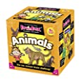 Green Board Games BrainBox Animals - Juego de preguntas sobre animales (en inglés) de Green Board Games