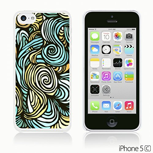OBiDi - Geometrical Pattern Hardback Case / Housse pour Apple iPhone 5C - Funny Tribal Print Blue Wave