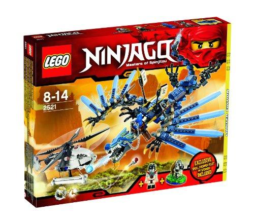 Lego 2521 Ninjago - Le combat du dragon de foudre - exclusif Pilote d´ Hélicoptère Squelette et Toupie exclusif