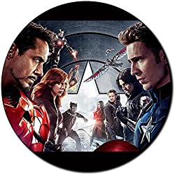 Capitan America Captain America Civil War A Alfombrilla Redonda Round Mousepad PC