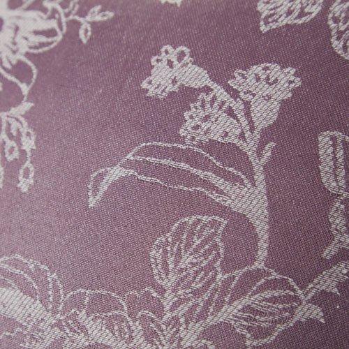 Mason Gray Fusion – Ilsa – Floral Jacquard Lined Pencil Pleat Curtains – 46×54 (117 x 137 cm), Heather