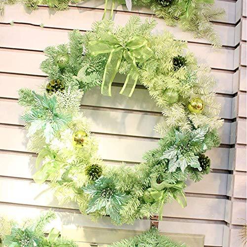 Joycetan anello natalizio verde anello graduale con decorazione natalizia anello natalizio decorazione natalizia decorazione natalizia anello natalizio con anta, 30cm
