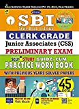 #10: Kiran SBI Clerk Grade Junior Associates (CSS) Preliminary Exam Self Study Guide cum Practice Work Book with Previous Years Solved Papers 45 Sets - 2117