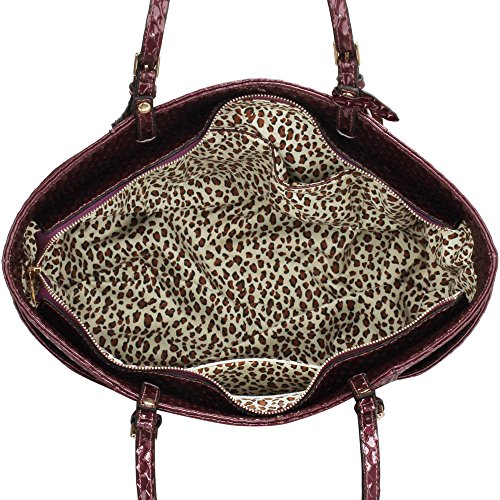 Frau Handtaschen Damen Groß Für Leinentrage Tasche Konstrukteur Imitat Leder Berühmtheit Stil Neu (C - Bräunen) Lila1