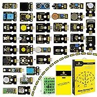 Kit de liste 1: Digital Blanc LED Module * 1 2: Piranha LED * 1 3 module LED: 3 W * 1 4: RVB Module LED * 1 5: analogique Capteur de température * 1 6: cellule photoélectrique Capteur * 1 7: analogique Capteur sonore * 18 : capteur de rotation...
