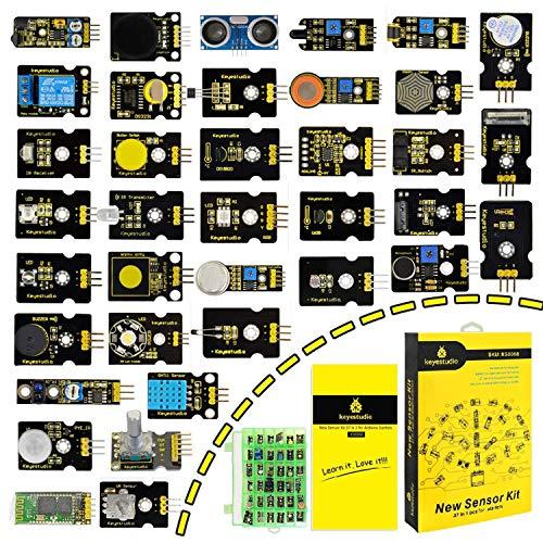 KEYESTUDIO 37-in-1 Pack Kit Tools Sensors with Free PDF Tutorial Arduino Project, Mega , ONE, Nano, Sensor Sensores Kit, Raspberry Sensores Kit