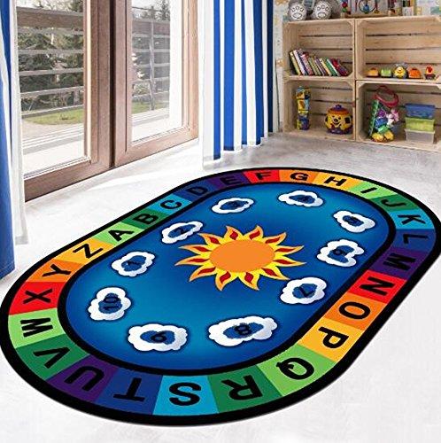 ustide Baby Kinder spielen, kriechen Teppiche Baby Play Teppiche Educational Play Teppiche für Kinder leicht transparent, Polyester, Farbe C, 31.5