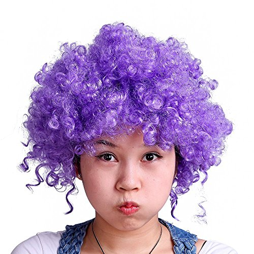 own Halloween-Kostüm Party Perücke Künstliche Goofy Unisex Hair (Purple) (Goofy Halloween-kostüme)
