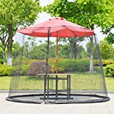 Insektensicherer Schirm-Abdeckungs-Moskitonetz-Schirm für Patio-Tischschirm-Garten-Plattform-Möbel mit Reißverschluss Faltbare Maschen-Einschließungs-Abdeckung