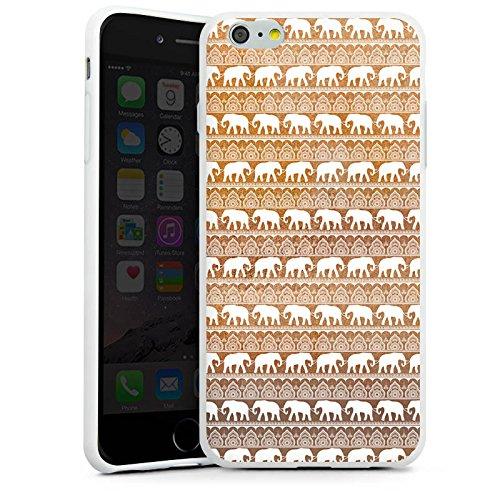 Apple iPhone X Silikon Hülle Case Schutzhülle Elefant Sommer Indien Silikon Case weiß