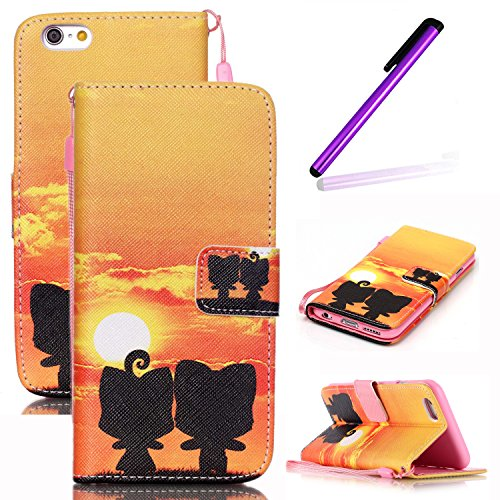 iPhone 4S Hülle,iPhone 4S Weiß Leder Handy Tasche Wallet Case Flip Cover Etui,iPhone 4S Cover,EMAXELERS iPhone 4S PU Leder Flip Wallet Case Hülle,Niedlich Muster Druck Cool Skull Blumen Design Back Hü Skull Flower 3