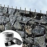 Bedruckter Zaun Sichtschutz Streifen für 3D Gitterstabmatten – PVC frei (Bruchstein groß)