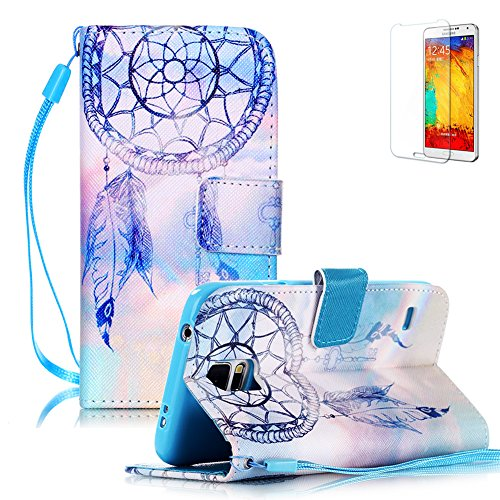 for-samsung-galaxy-s5-case-with-free-screen-protector-funyye-premium-pu-leather-wallet-embedded-flip