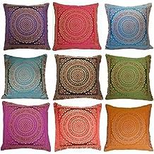 Brocado de seda decorativo hecho a mano indio Hogar y sala de estar Decoración Sofá de