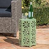 Christopher Knight Home Davidson Outdoor Beistelltisch, Eisen, 30,5 cm, matt, Grün