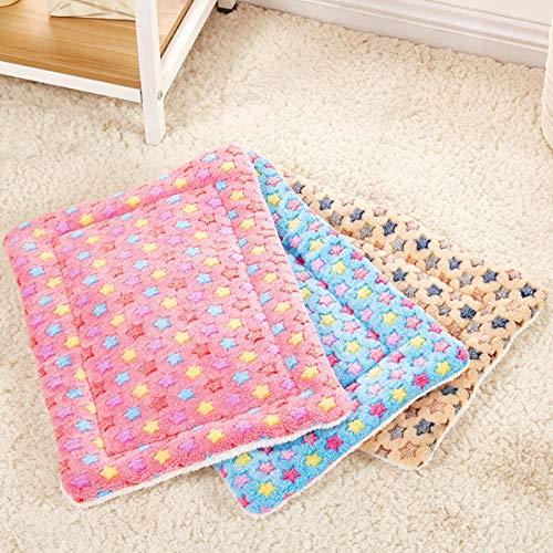 Haustier Hund Bett Hund Decke welpen Hund matratze restkissen Breathable pet Kissen weiche warme schlafmatte - 2 zufällige Farben S größe -