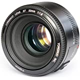 Yongnuo EF YN 50mm F/1.8 1:1.8 Standard Prime Lens for Canon Rebel Digital Camera Works Well with 5D, 7D, 60D, 70D, T3…