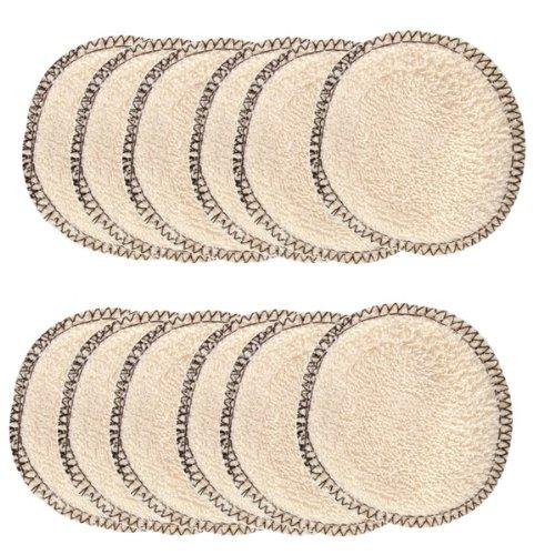 Lulu Nature Abschminkpads, waschbar, aus Biobaumwolle, 12 Stück