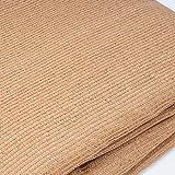 WOLTU Sonnensegel Rechteck 5x7m Sand atmungsaktiv Sonnenschutz HDPE Windschutz mit UV Schutz für Garten Terrasse Camping - 4