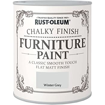 Rust Oleum Chalky Finish Furniture Paint   Winter Grey   750ml