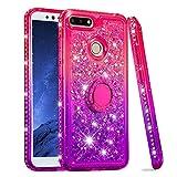 Huawei Y6 2018 Case, Glitter Sparkle Floating Liquid