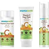 Mamaearth Vitamin C Skincare Facial Kit (Vitamin C - Face Wash 100ml + Face Toner 200ml + Face Cream 50g)