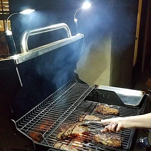617kwBfnWjL - LED Grill Licht Magnetische Grill BBQ Licht Set Grillen Zubehör Schwarz