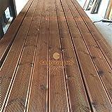 [TOP] Pavimento in legno per esterno / piscina in decking in PINO+ 12x2,8x205 cm ( 20 pezzi)